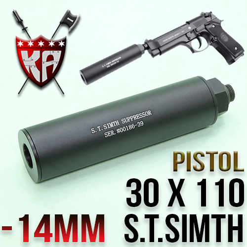 S.T Simth Silencer with Adopter 30 x 110mm