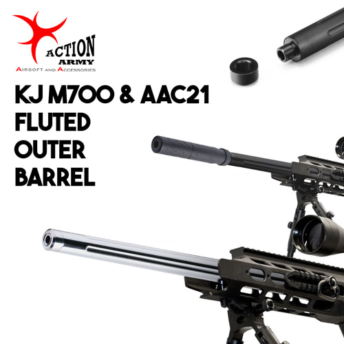 Fluted Outer Barrel / KJ M700,AAC21