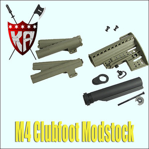 M4 Clubfoot Stock/DE/W/Pipe