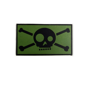 Funny Skull Embroidery Patch(OD)