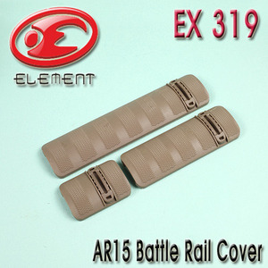 AR15 Battle Rail Cover / TAN