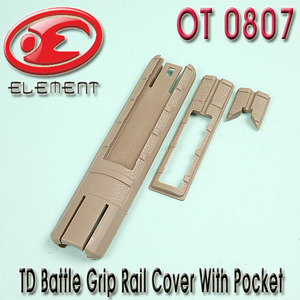 TD Battle Grip Rail Cover With Pocket / TAN
