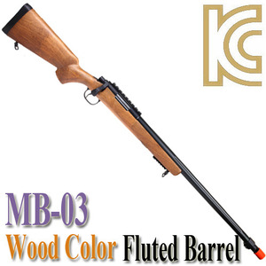 MB-03 Fluted Barrel / Wood Color
