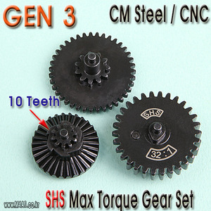 Gen3 Max Torque Gear Set  / 10 teeth